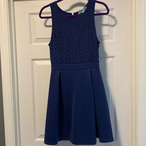 Francescas Navy Blue Fit and Flare Dress